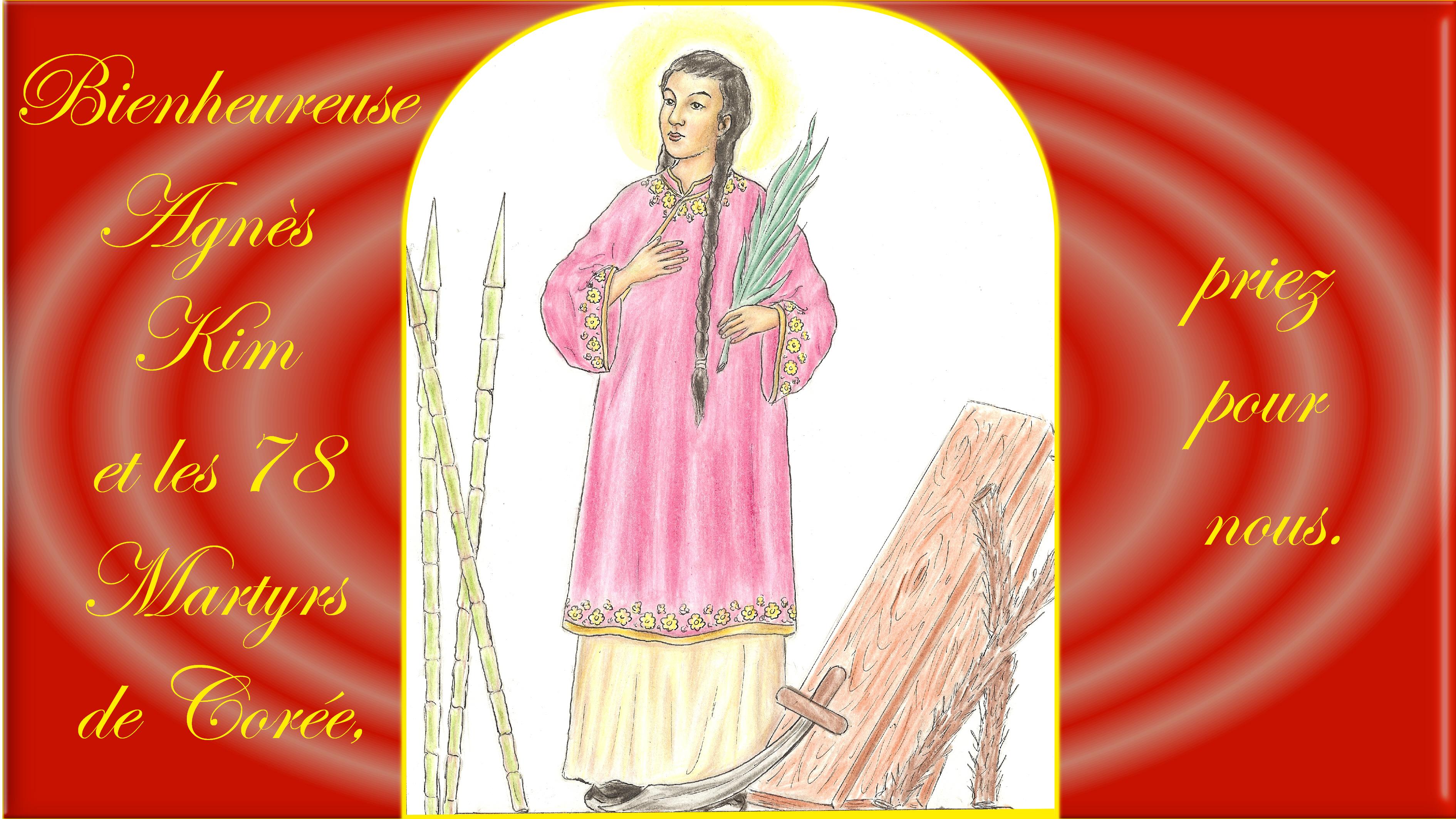 CALENDRIER CATHOLIQUE 2019 (Cantiques, Prières & Images) - Page 9 Bse-agn-s-kim-5695e33