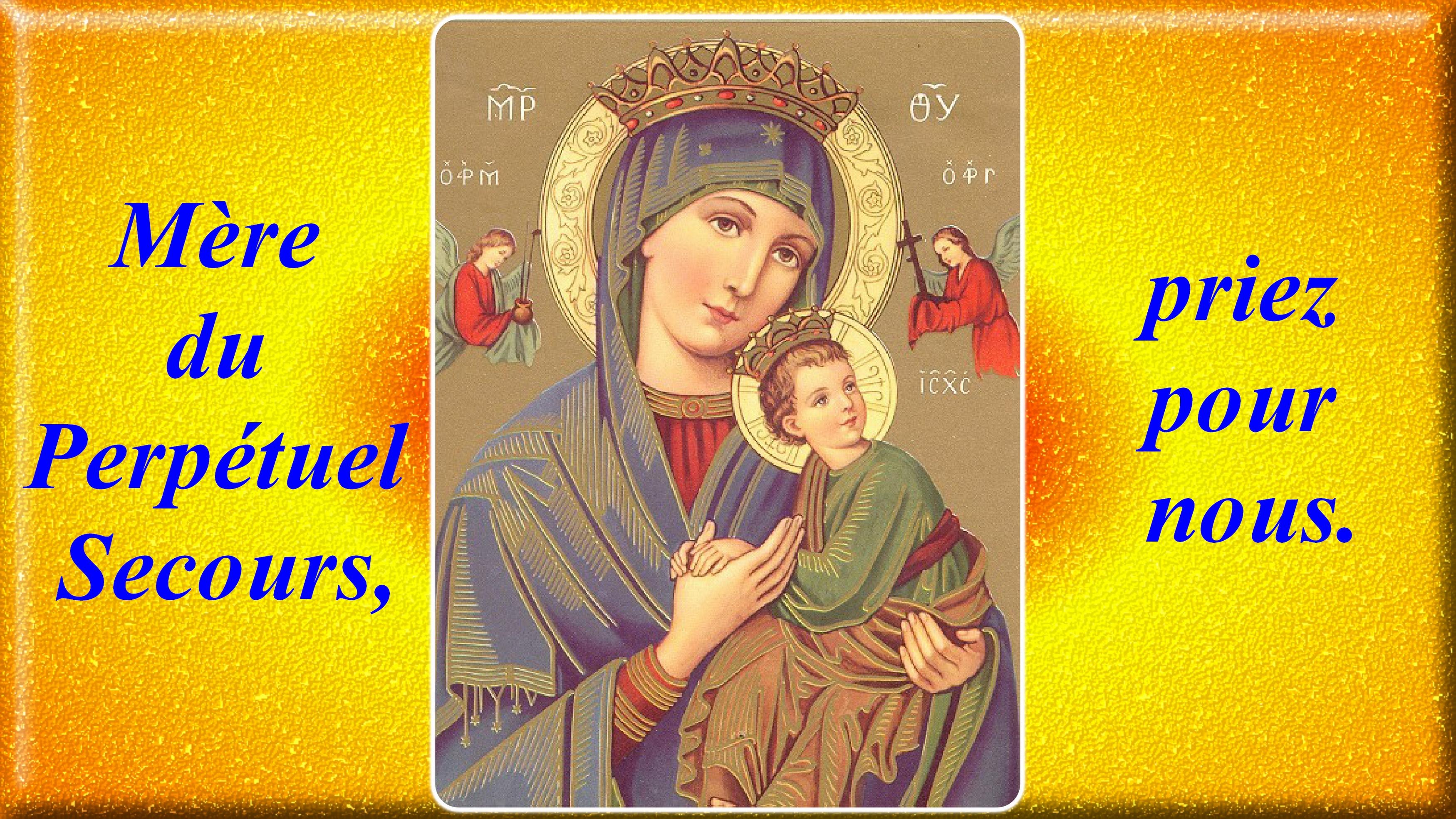 CALENDRIER CATHOLIQUE 2020 (Cantiques, Prières & Images) - Page 18 Notre-dame-du-per...-secours-5781935