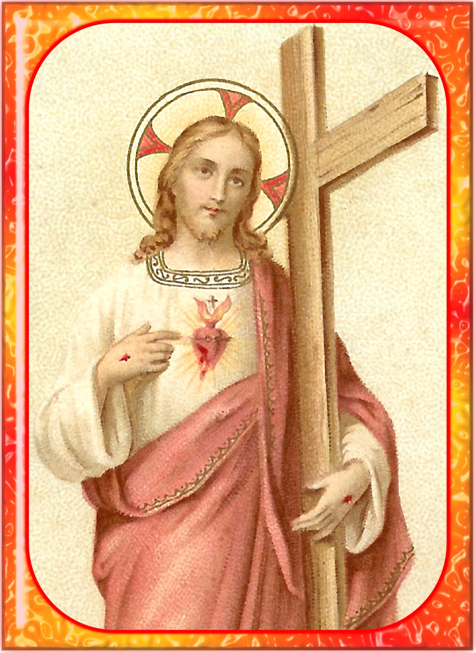 CALENDRIER CATHOLIQUE 2019 (Cantiques, Prières & Images) - Page 13 J-sus-christ-notr...dempteur-56b0df9