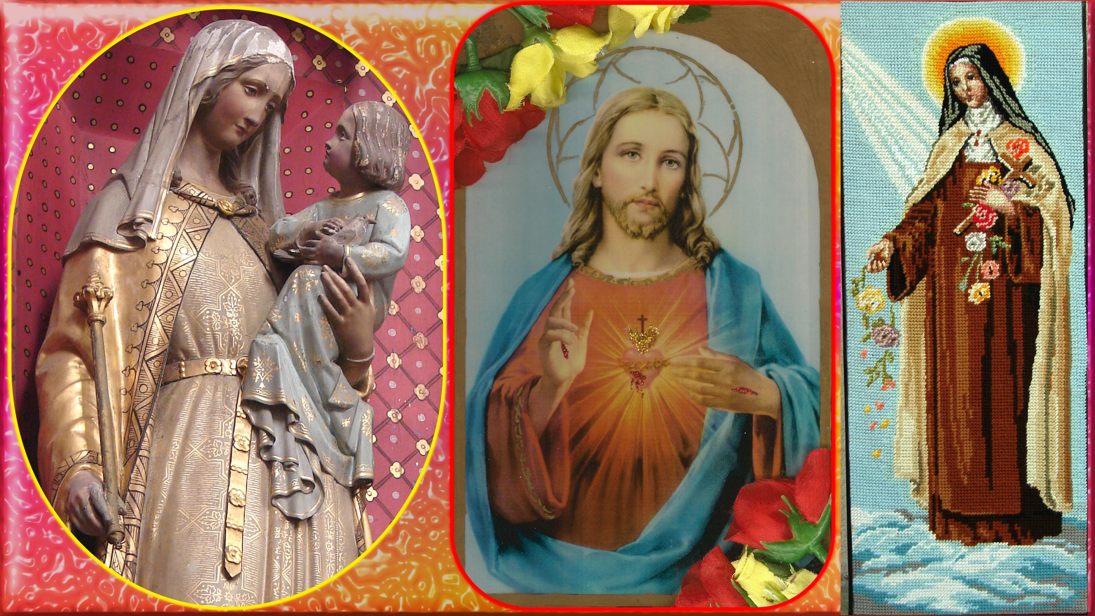 CALENDRIER CATHOLIQUE 2020 (Cantiques, Prières & Images) - Page 12 Marie-le-sacr--co...nt-j-sus-574d4c4